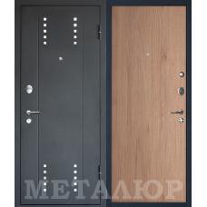 Входная металлическая дверь МеталЮр М26 (Черный бархат / Светлый салинас)
