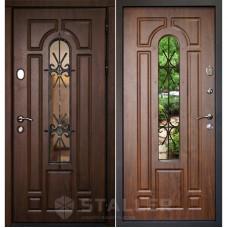 Входная металлическая дверь Сталлер Бари (Дуб тёмный)