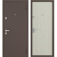 Двери Бульдорс 12 NEW Медь / Дуб Беленый гладкая