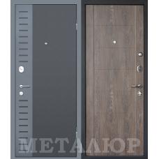 Входная металлическая дверь МеталЮр М28 (Черный бархат / Дуб шале корица)