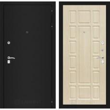 Входная дверь Лабиринт CLASSIC шагрень черная 12 - Беленый дуб