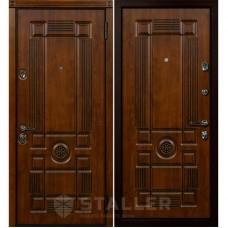 Входная металлическая дверь Металюр Рим (Дуб тёмный)