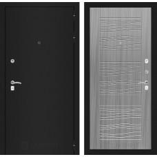 Входная дверь Лабиринт CLASSIC шагрень черная 06 - Сандал серый