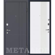 Входная металлическая дверь МеталЮр М16 (Антрацит / Аляска)