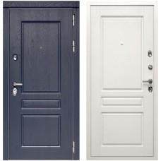 Входная дверь Сударь МД-45 (Роял вуд синий/Белый софт)