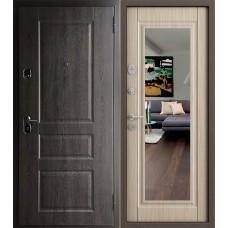 Двери Бульдорс 15 Дуб графит Б-7 Дуб Крем Т-2 (зеркало)