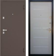 Двери Бульдорс NEW 13 P Медь / Дуб Беленый Е3 (стекло)