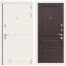 Входная дверь Лабиринт Лайн WHITE 03 - Орех премиум