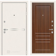 Входная дверь Лабиринт Лайн WHITE 03 - Орех бренди