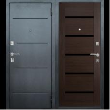 Входная металлическая дверь Техносталь Т7 (Чёрное серебро / Венге)