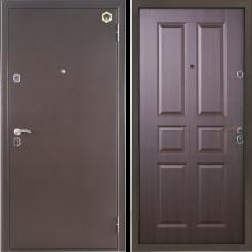 Двери Бульдорс NEW 12-С Медь / Орех темный С-2