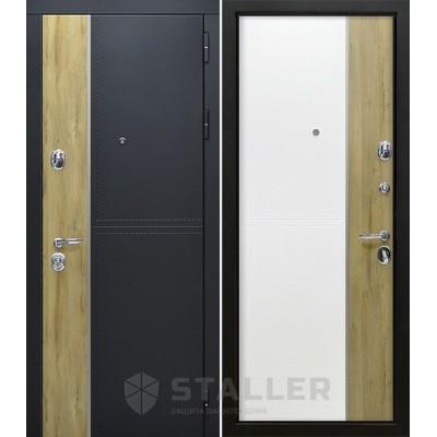 Входная металлическая дверь Сталлер Этна, дуб санремо