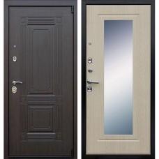 Входная стальная дверь АСД Викинг (с зеркалом) Беленый дуб