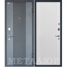 Входная металлическая дверь МеталЮр М27 (Черный бархат / Аляска)