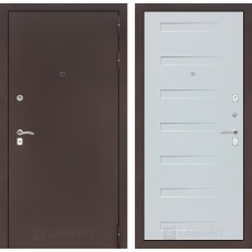 Входная дверь Лабиринт CLASSIC антик медный 14 - Дуб кантри белый горизонт