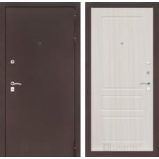 Входная дверь Лабиринт CLASSIC антик медный 03 - Сандал белый