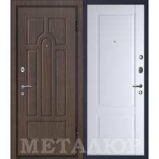 Входная дверь металлическая дверь МеталЮр М12 (Венге / Аляска)