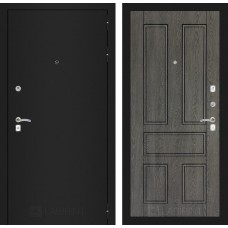 Входная дверь Лабиринт CLASSIC шагрень черная 10 - Дуб филадельфия графит