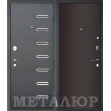 Входная металлическая дверь МеталЮр М29 (Черный бархат / Дуб французский темный)