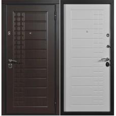 Входная дверь Металюр Скала (Венге тёмный/ Пломбир)
