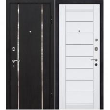 Входная металлическая дверь МеталЮр М8 (Тёмный венге / Белая)