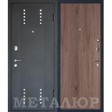 Входная металлическая дверь МеталЮр М26 (Черный бархат / Темный салинас)