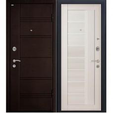 Входная металлическая дверь МеталЮр М17 (Тёмная ива / Эшвайт мелинга)