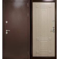 Входная дверь Дверной континент Термаль Ультра Беленый дуб