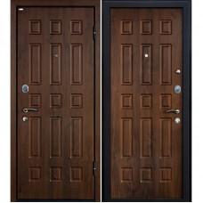 Входная металлическая дверь МеталЮр М3 (Тёмный орех)