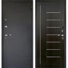 Дверь входная металлическая Люкс ПРО Фриза Венге тисненный/Черный шелк