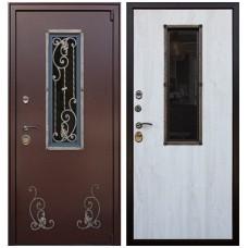 Входная стальная дверь АСД Престиж Сосна белая