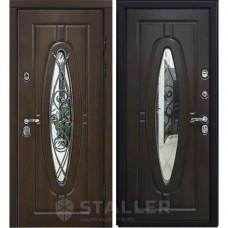 Входная металлическая дверь Сталлер Монарх (Дуб тёмный)