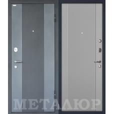 Входная металлическая дверь МеталЮр М27 (Черный бархат / Манхэттен)