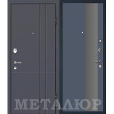 Входная металлическая дверь МеталЮр М16 (Антрацит / Антрацит)
