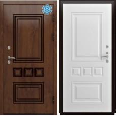Металлическая входная дверь Люксор Аура винорит белый Терморазрыв