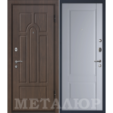 Входная дверь металлическая дверь МеталЮр М12 (Венге / Манхэттен)