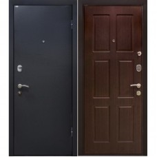 Входная металлическая дверь МеталЮр М21 (Чёрный бархат / Венге)