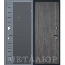 Входная металлическая дверь МеталЮр М28 (Черный бархат / Дуб шале графит)