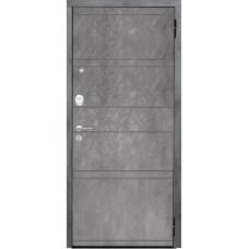 Входная дверь Аргус Люкс 3К 2П Агат дуо (темный бетон)