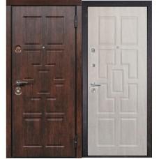 Входная металлическая дверь Сталлер Квадро (Тиковое дерево / Дуб белёный)