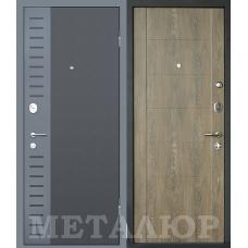 Входная металлическая дверь МеталЮр М28 (Черный бархат / Дуб шале натуральный)