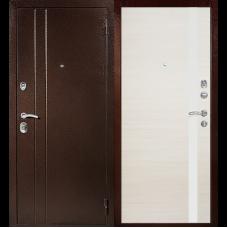 Входная металлическая дверь Техносталь Т6 (Антик медь / Эшвайт)