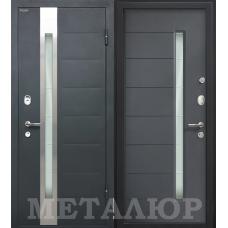 Входная металлическая дверь МеталЮр М36 (Серый металлик / Антрацит)