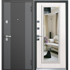 Двери Бульдорс 44 T NEW Черный шелк K-2 / Лиственница Бежевая Т5 (зеркало)