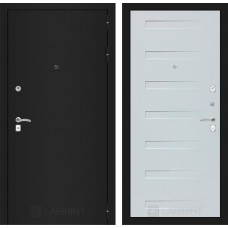 Входная дверь Лабиринт CLASSIC шагрень черная 14 - Дуб кантри белый горизонт