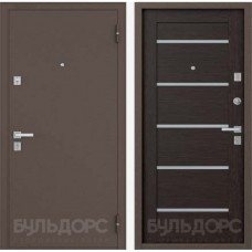 Двери Бульдорс NEW 13 P Медь / Венге Е3 (стекло)