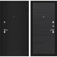 Входная дверь Лабиринт CLASSIC шагрень черная 14 - Эковенге поперечный