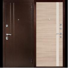 Входная металлическая дверь Техносталь Т6 (Антик медь / Капучино)