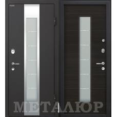 Входная металлическая дверь МеталЮр М35 (Черный бархат / Эковенге)
