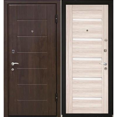 Входная металлическая дверь МеталЮр М7 (Венге / Капучино мелинга)